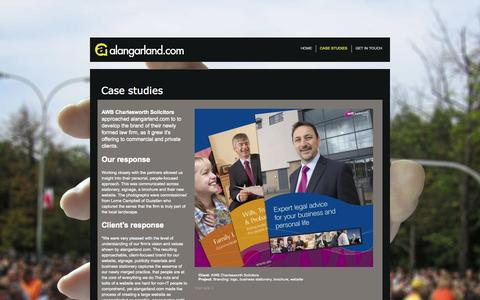 Screenshot of Case Studies Page alangarland.com - web-design-and-print-design-case-studies - captured Oct. 5, 2014
