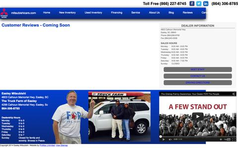 Screenshot of Testimonials Page gilstrapfamilydealerships.com - Customer Testimonials for Gisltrap Family Dealerships in South Caronlina - captured Sept. 23, 2015
