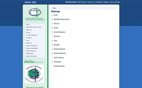 Screenshot of Site Map Page abcopad.org - Site Map - captured Nov. 20, 2016