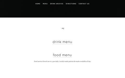 Screenshot of Menu Page thevespr.com - MENU — Vespr - captured Oct. 21, 2018