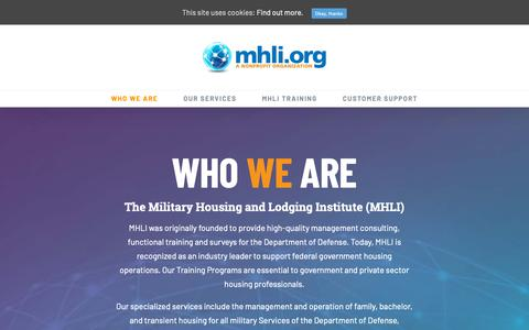 Screenshot of About Page mhli.org - WHO WE ARE : MHLI.ORG - captured Nov. 19, 2018