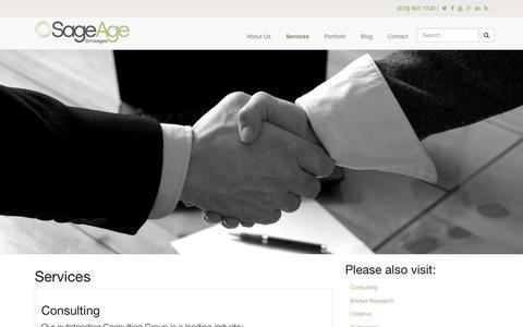 Screenshot of Services Page sageagestrategies.com - Services | Sage Age Strategies - captured June 23, 2017
