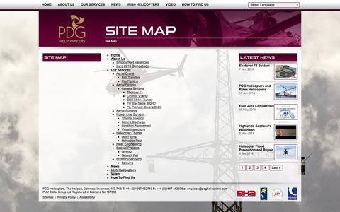 Screenshot of Site Map Page pdghelicopters.com - PDG Helicopters Sitemap - captured May 12, 2017