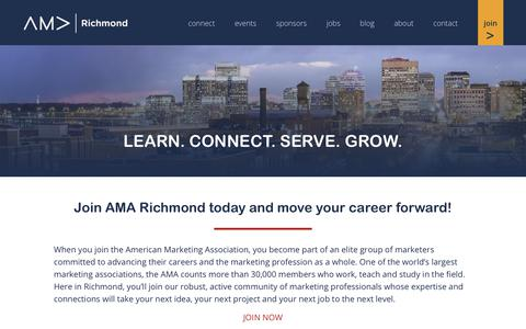 Screenshot of Signup Page amarichmond.org - Join the American Marketing Association Richmond Chapter - captured Nov. 6, 2018