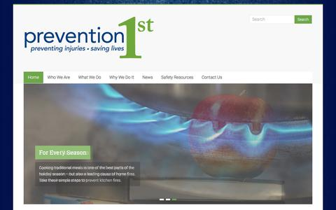 Screenshot of Home Page prevention1st.org - Prevention 1st,  Rochester, NY - captured July 21, 2018