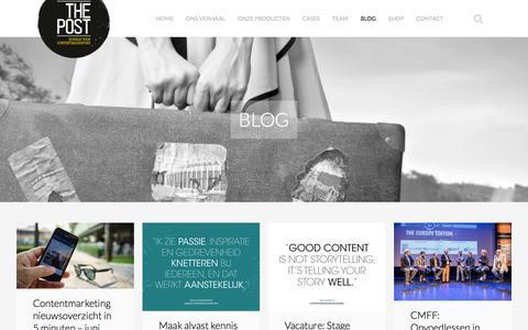 Screenshot of Blog thepost.nl - Inspiratie opdoen rondom contentmarketing? Lees ons blog - captured July 29, 2016