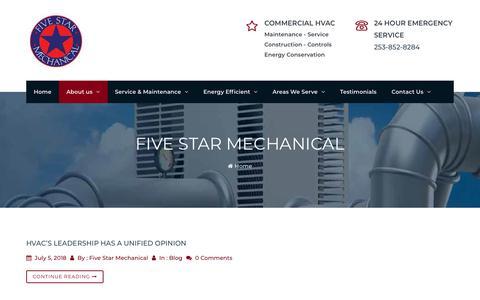 Screenshot of Blog fivestarmech.com - Blog | Five Star Mechanical - captured Oct. 10, 2018
