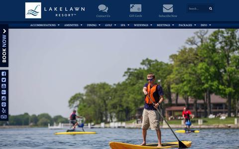 Screenshot of Home Page lakelawnresort.com - Wisconsin Resorts – Lake Lawn Resort – Delavan, WI - captured May 13, 2017