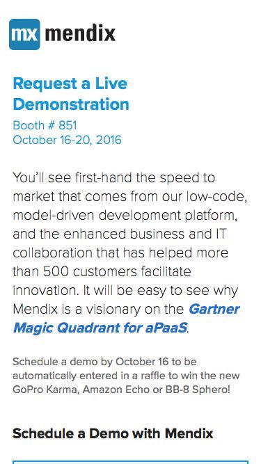 Visit Mendix at Gartner Symposium Orlando