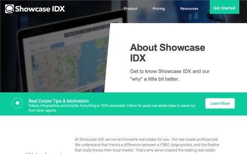 Screenshot of About Page showcaseidx.com - About Us - Showcase IDX - captured Feb. 10, 2019