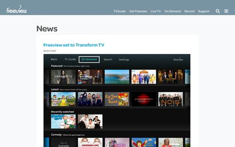 Screenshot of Press Page freeviewnz.tv - Freeview NZ News - Freeview - captured Oct. 30, 2017