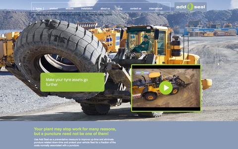 Screenshot of Home Page add-seal.co.uk - Add Seal - keeping the wheels of industry moving - captured Oct. 4, 2014