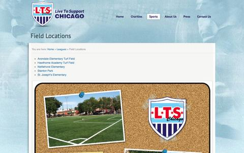 Screenshot of Locations Page livetosupport.com - Field Locations - LTS Chicago - captured Oct. 1, 2014