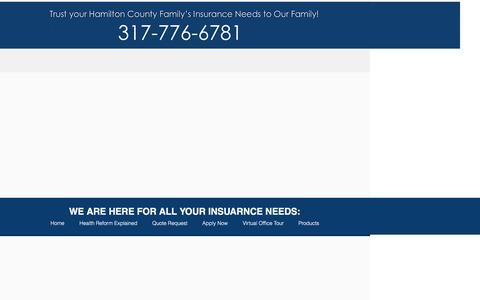 Screenshot of Products Page gordoninsuranceinc.com - gordon-insurance | Products - captured Jan. 30, 2017