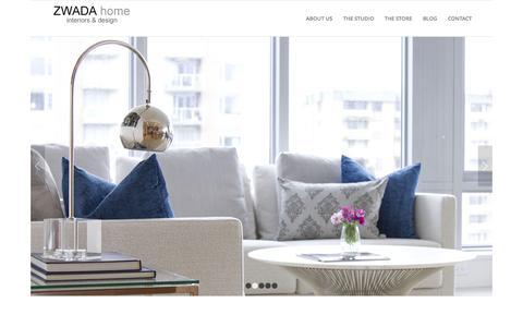 Screenshot of Home Page zwadadesign.com - ZWADA home Interiors & Design - Vancouver - captured Sept. 5, 2015
