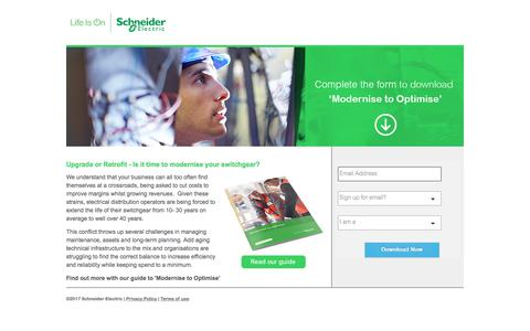 Screenshot of Landing Page schneider-electric.com - Plan Your Data Center Growth Simply and Effectively - captured April 21, 2018