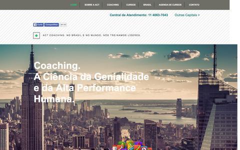 Screenshot of Home Page actcoaching.com.br - Act Coaching® - Escola Superior de Coaching - captured Feb. 4, 2016