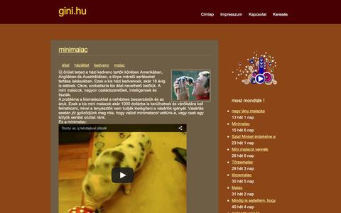 Screenshot of Home Page gini.hu - Gini.hu   Különleges • érdekes • abszurd • vicces - captured Nov. 14, 2016