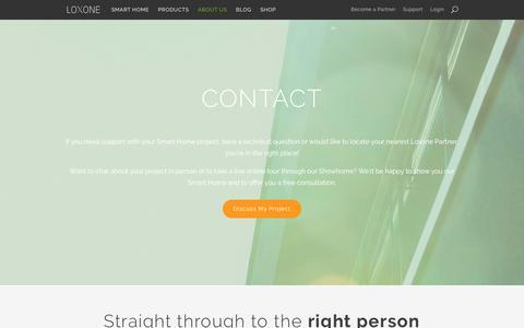Screenshot of Contact Page loxone.com - Contact - Loxone - captured June 23, 2017