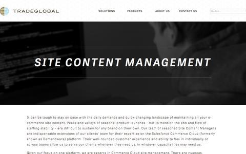 Screenshot of Team Page tradeglobal.com - Site Content Management - E-Commerce | TradeGlobal® - captured Feb. 20, 2020