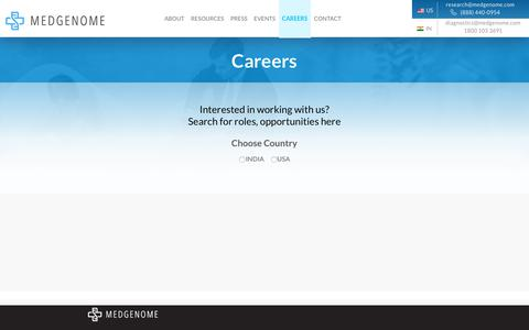 Screenshot of Jobs Page medgenome.com - Genetic research, Drug discovery research - MedGenome - captured Dec. 10, 2018