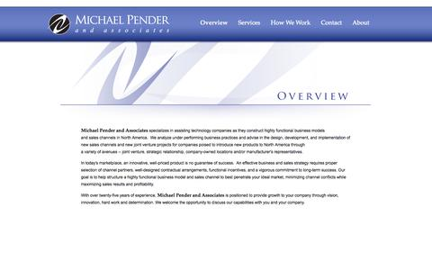 Screenshot of Home Page michaelpender.com - Michael Pender and Associates - captured Oct. 6, 2014