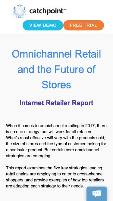 Omnichannel Retail and the Future of Stores | Catchpoint & Internet Retailer