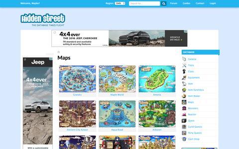 Screenshot of Maps & Directions Page hidden-street.net - Maps | Hidden Street - captured July 14, 2016