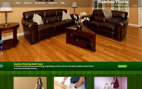 Screenshot of Home Page bamboofloorsgoldcoast.com - Bamboo Floors Gold Coast, Timber Flooring, Hardwood QLD - captured Oct. 5, 2014