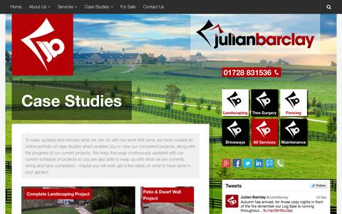 Screenshot of Case Studies Page julianbarclay.com - Case Studies Archives - Welcome to Julian Barclay - captured Sept. 30, 2014