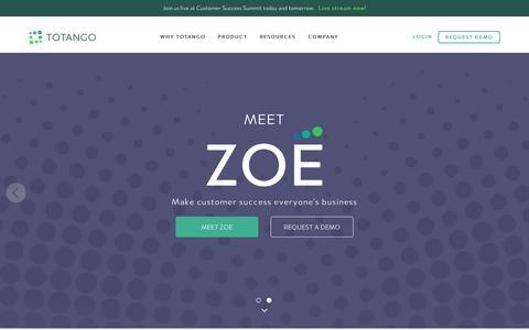 Screenshot of Home Page totango.com - Totango | Customer Success Software - captured Feb. 28, 2017
