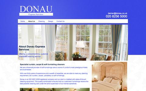 Screenshot of About Page donau.co.uk - About Our Hotel Cleaning Services In Croydon, London - captured Oct. 5, 2014