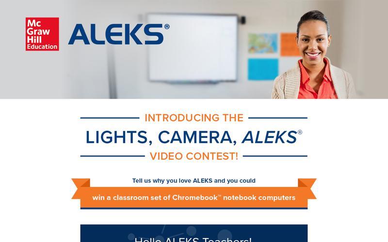 Lights, Camera, ALEKS