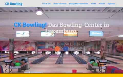 Screenshot of Home Page bowling-luxembourg.lu - CK Bowling - Das Bowling-Center in Luxemburg - CK Bowling - captured June 19, 2015