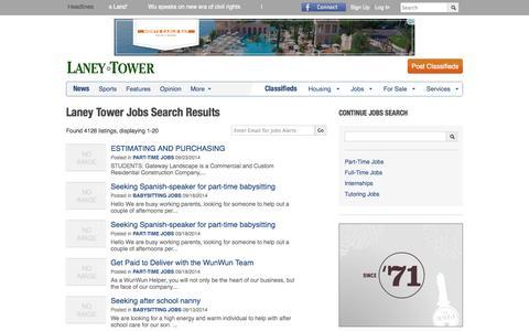Screenshot of Jobs Page laneytower.com - Laney College (Laney Tower) Jobs   Laney Tower - captured Sept. 26, 2014