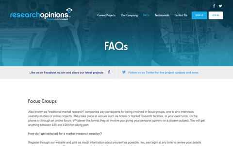 Screenshot of researchopinions.co.uk - FAQs - Research Opinions - captured Aug. 9, 2015