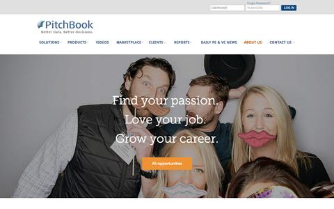 Screenshot of Jobs Page pitchbook.com - Careers | PitchBook - captured Dec. 16, 2014