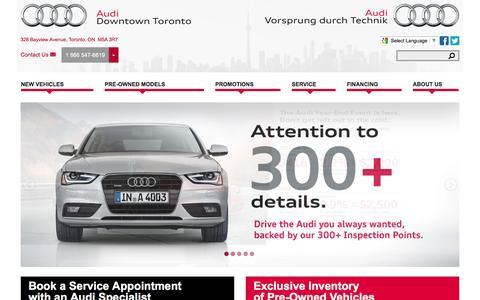 Audi Downtown Toronto | Toronto Audi Dealer