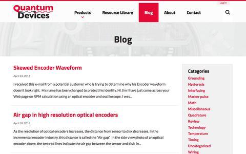 Screenshot of Blog quantumdev.com - Blog - Quantum Devices, Inc. - captured Aug. 21, 2017