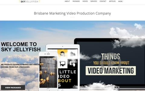 Screenshot of Home Page skyjellyfish.com.au - Brisbane Marketing Video Production Company - captured Aug. 10, 2016