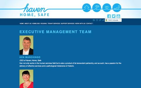 Screenshot of Team Page lmhs.com.au - Management - captured Oct. 27, 2014