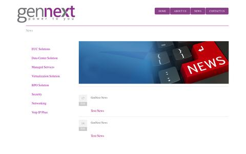 Screenshot of Press Page gennext.lk - News - captured Oct. 2, 2014