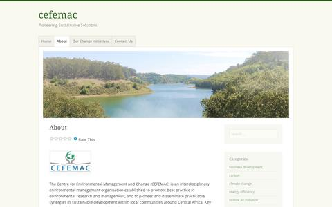 Screenshot of About Page wordpress.com - About | cefemac - captured Sept. 12, 2014