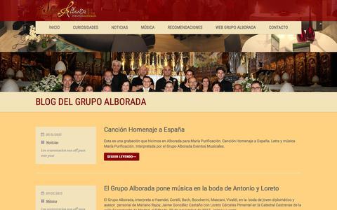Screenshot of Blog grupoalborada.com - Blog del Grupo Alborada - captured April 24, 2018
