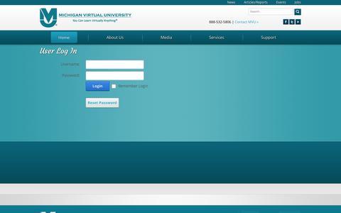 Screenshot of Login Page mivu.org - User Log In - captured Nov. 1, 2014