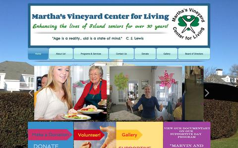 Screenshot of Home Page mvcenter4living.org - Martha's Vineyard Center For Living - captured Oct. 17, 2017