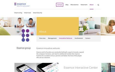 Screenshot of essence-grp.com - Essence Interactice Center - captured Nov. 6, 2018