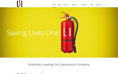 Screenshot of Home Page lsitn.com - Knoxville Fire Extinguishers | Commercial Hood Inspections - captured Oct. 2, 2014