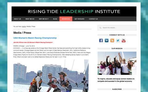 Screenshot of Press Page 4risingtide.org - Media / Press - Rising Tide Leadership Institute - captured Oct. 6, 2014