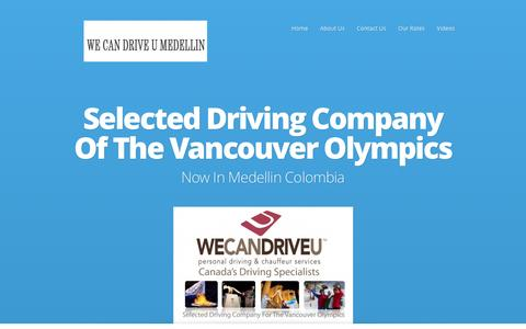 Screenshot of Home Page wecandriveu.com - We Can Drive U | Medellin Driving Service For The Famous - captured Jan. 10, 2016